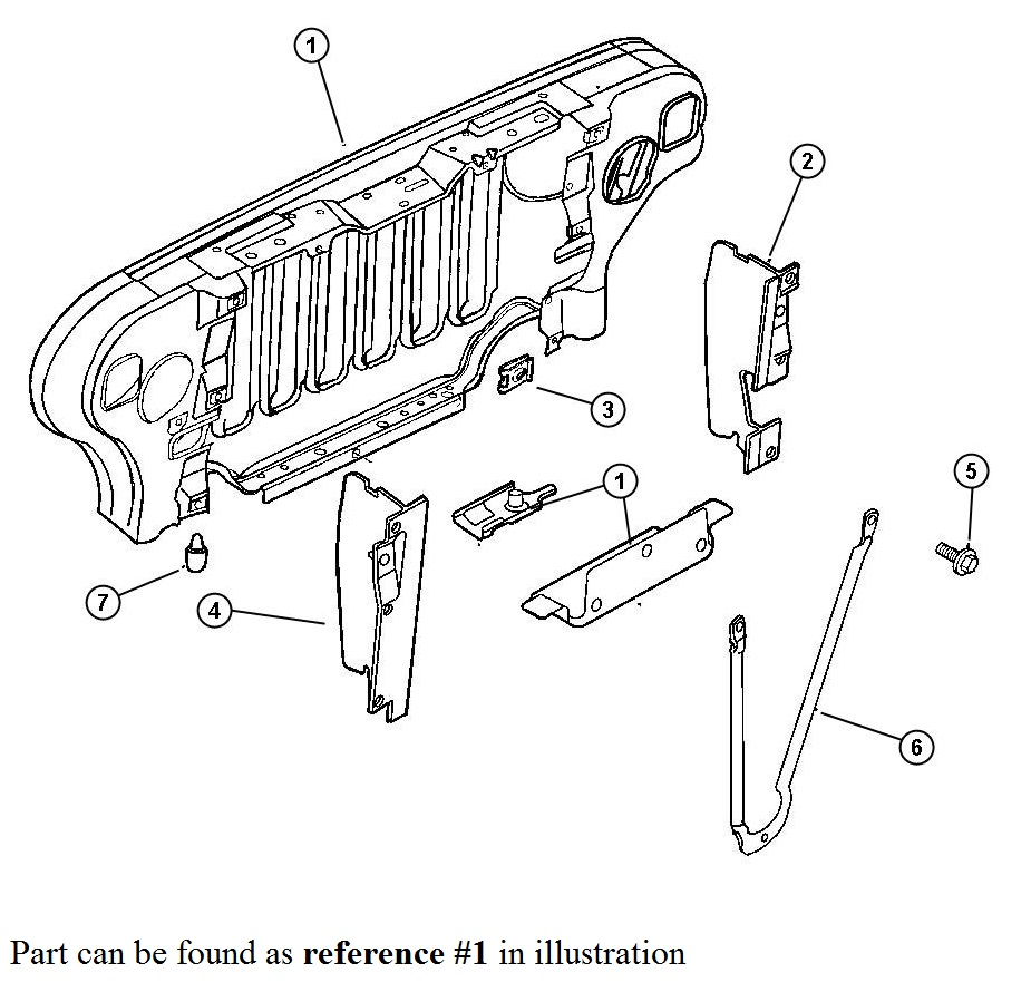 service manual  diagram of removing a grill from a 2006