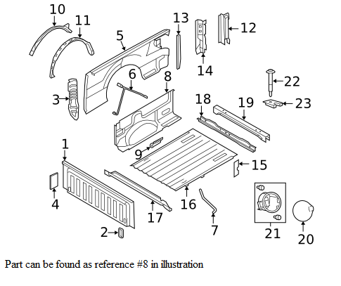 2012 2014 Ford F150 Inside Truck Bed Panel Cl3z 9927864 C on 2014 f 150 parts diagram